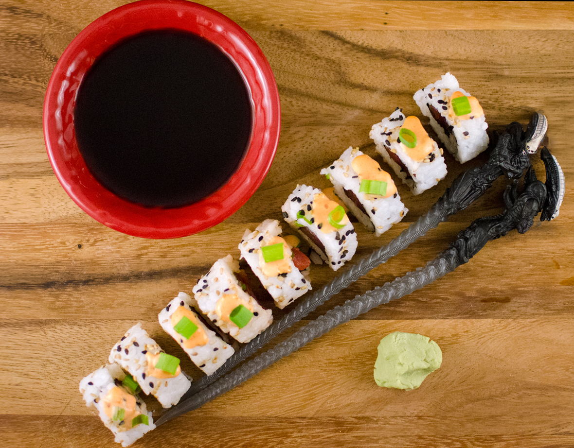 how to make tuna sushi rolls at home