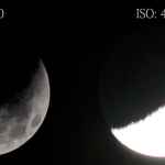 Moon with different ISO settings